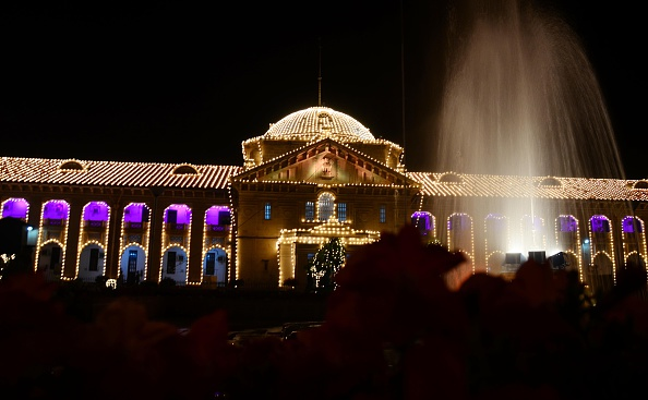A view of decorated High court building ahead of 150th